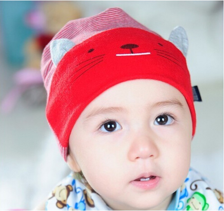af39c5e739c Hot Wholesale Stripe Kitty Baby hat Beanies Children Hats Baby Cotton Hats  Beanie cap