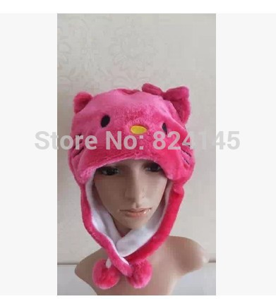 3e6f8706a Beanie Hat Animal Cartoon Hat children's Hat hello kitty Red Cap Skullies &  Beanies